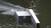 photo of wakeboarder at The Spin Cable Park in Belgium