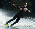 photo of local pro wakeboarder Thibaut Cenci at The Spin Cable Park in Belgium